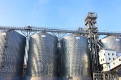 Granaries for storing wheat and other cereal grains. Stock Images