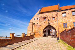 Granaries with water gate in Grudziadz Stock Image