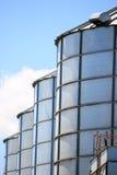 Granary. And blue sky closeup Royalty Free Stock Photos