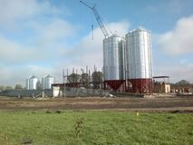 Granary. The beginning of the construction of the granary Royalty Free Stock Photos