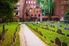 Granary Burying Ground, in Boston, Massachusetts. Royalty Free Stock Image