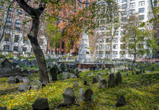 Granary Burying Ground cemetery - Boston, Massachusetts, USAy - Boston, Massachusetts, USA Stock Image