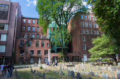 Granary Burying Ground. The famous Granary Burying Ground in Boston, Massachusetts, USA stock photo