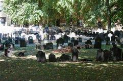 Granary Burying Ground. The famous Granary Burying Ground in Boston, Massachusetts, USA stock photography