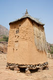 Granary in a Dogon village, Mali (Africa). Granaries in a Dogon village, Mali (Africa). The Dogon are best known for their mythology, their mask dances, wooden stock photo