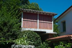 Granary in Galicia. View of the Horreo, typical spanish granary Stock Image