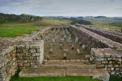 The granary at Housesteads Fort, Hadrian`s Wall, Northumbria royalty free stock photo