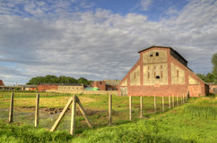 Granary in an old farm Royalty Free Stock Image