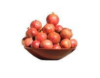 Granatäpfel in einem Teller Stockbild