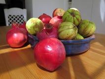 Granatäpfel und Quitten Lizenzfreie Stockfotografie