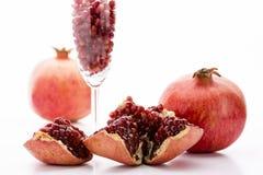 Granatäpple och dess frö Fotografering för Bildbyråer