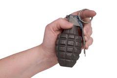 granat ręka Zdjęcie Stock