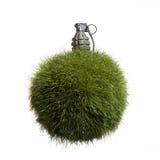 Granata del globo dell'erba Immagine Stock Libera da Diritti