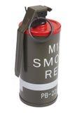 Granata fumogena di rosso M18 Fotografie Stock