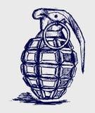 Granata a mano illustrazione vettoriale