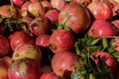 Granatapfel auf Markt Stockfotografie