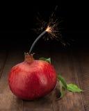 Granatapfel-Bombe Stockbild