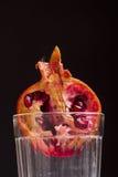 Granatapfel in einem Glas Lizenzfreie Stockfotografie