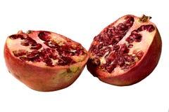 Granatapfel geteilt zur Hälfte Stockfotografie
