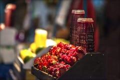 Granatapfel pomegranatejuice Stockfotografie