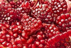 Granatapfel sät Fruchtmakro Lizenzfreie Stockfotos