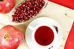 Granatapfel-Tee Stockbild