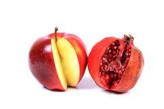 Granatapfel und Apfel Lizenzfreie Stockbilder