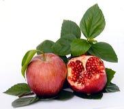 Granatapfel und Apfel Stockbilder