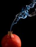 Granatapfel und Rauch Lizenzfreies Stockbild