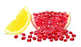 Granatapfel und Zitrone Lizenzfreie Stockfotos