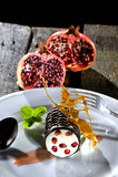 Granatapfelnachtisch Stockbild