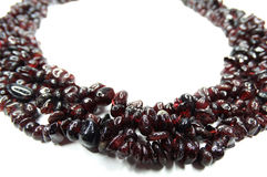 Granate gemstone beads necklace jewelery Royalty Free Stock Image