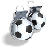 Granate a mano di calcio Fotografia Stock Libera da Diritti