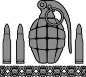 Granate und Kugeln Stockbilder
