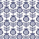 Granato blu Reticolo floreale Fotografie Stock