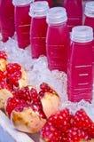 Granatowa świeży sok Obrazy Royalty Free