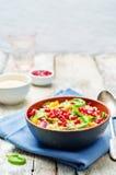 Granatowa batata quinoa szpinaka sałatka Obraz Royalty Free