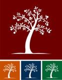granatowa ilustracyjny drzewo. Zdjęcie Royalty Free