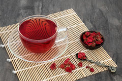 Granatowa kwiatu Zielarska herbata Zdjęcie Royalty Free