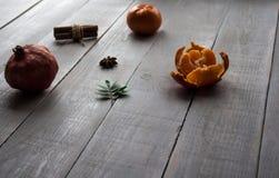 Granatowa mandarine obrany cynamon obrazy royalty free