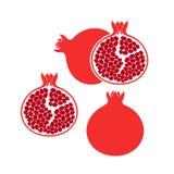 Granatowa set logo Odosobniony granatowiec Na Białym tle Zdjęcie Royalty Free