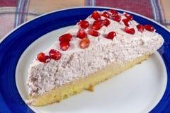 Granatowiec chałupy cheesecake Fotografia Stock