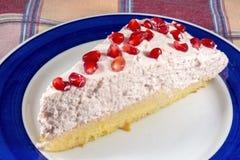 Granatowiec chałupy cheesecake Zdjęcia Stock
