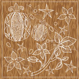 Granatowiec i gałązka z kwiatami Zdjęcie Stock