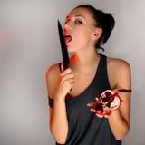 granatowiec kobieta Obraz Stock