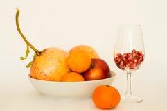 Granatowiec, owoc, jedzenie obrazy stock
