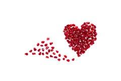 Granatowowie promują zdrowego serce Fotografia Royalty Free