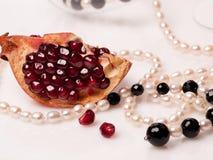 Granatslebensmittel-Perlenweiß Stockbild