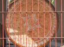 Grancassa nel tempio buddista fotografie stock