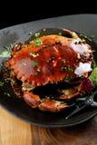 Granchio della salsa di pepe Fotografie Stock